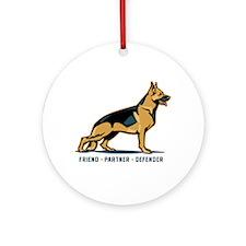 German Shepherd Friend Ornament (Round)