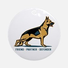 German Shepherd Friend Ornament (Round)
