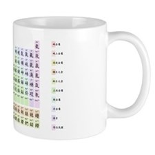 Periodic table in pastel Chinese Mug