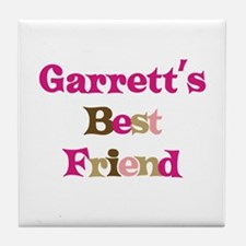 Garrett's Best Friend Tile Coaster