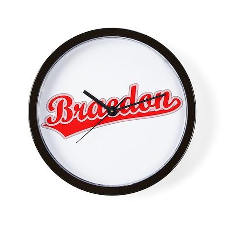 Retro Braedon (Red) Wall Clock