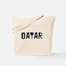 Qatar Faded (Black) Tote Bag
