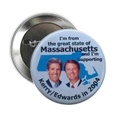 Massachusetts for Kerry Button