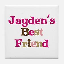 Jayden's Best Friend Tile Coaster