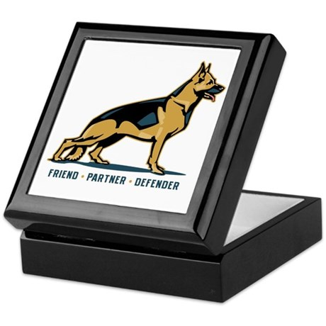 German Shepherd Friend Keepsake Box