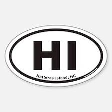 Hatteras Island NC HI Euro Oval Decal
