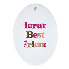 Kieran's Best Friend Oval Ornament
