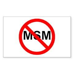 Just Say NO to Main Stream Me Sticker (Rectangular
