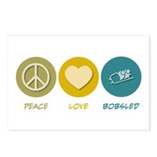 Peace Love Bobsled Postcards (Package of 8)