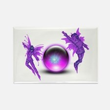 Fairy Orb Rectangle Magnet