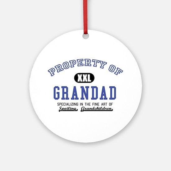 Property of Grandad Ornament (Round)