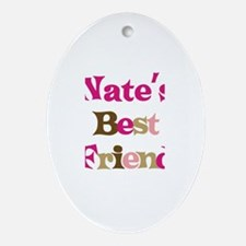 Nate's Best Friend Oval Ornament