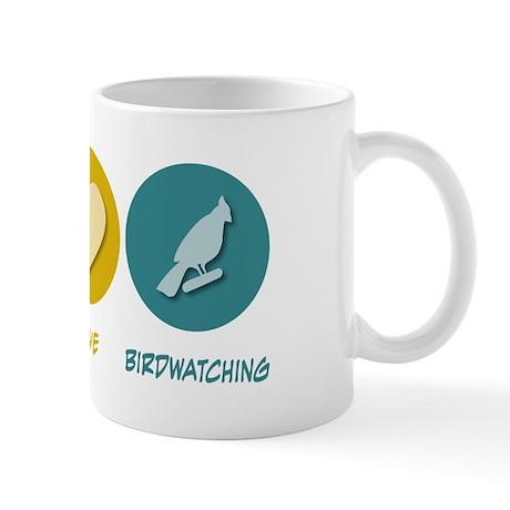 Peace Love Birdwatching Mug