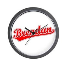 Retro Brendan (Red) Wall Clock