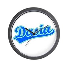 Retro Dasia (Blue) Wall Clock
