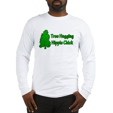 Tree Hugging Hippie Chick Long Sleeve T-Shirt