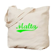 Vintage Malta (Green) Tote Bag