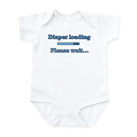 Blue Diaper Loading Infant Bodysuit