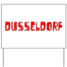 Dusseldorf Faded (Red) Yard Sign