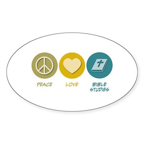 Peace Love Bible Studies Oval Sticker (50 pk)