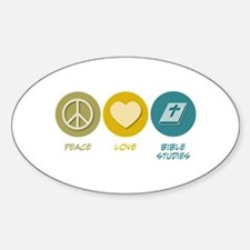 Peace Love Bible Studies Oval Decal
