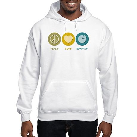 Peace Love Benefits Hooded Sweatshirt