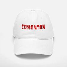 Edmonton Faded (Red) Baseball Baseball Cap