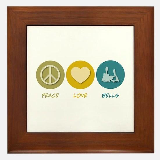 Peace Love Bells Framed Tile
