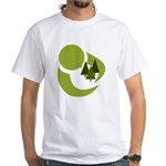 Tree Hugger White T-Shirt