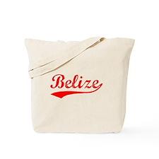 Vintage Belize (Red) Tote Bag
