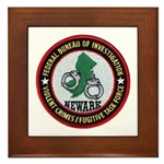 FBI Newark Framed Tile