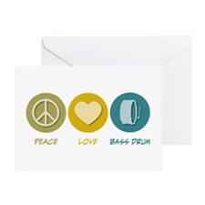 Peace Love Bass Drum Greeting Card