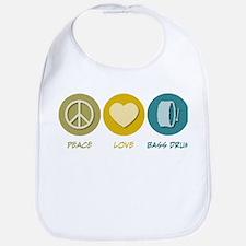 Peace Love Bass Drum Bib