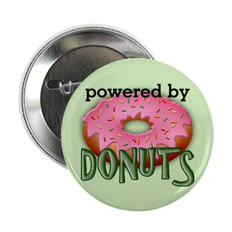 "Powered By Donuts 2.25"" Button"
