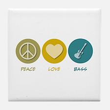 Peace Love Bass Tile Coaster