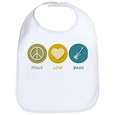 Peace Love Bass Bib