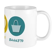 Peace Love Baskets Mug