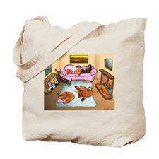 Domestic Dachshunds Tote Bag