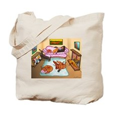 Domestic Dachshunds Tote Bag