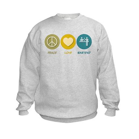 Peace Love Bartend Kids Sweatshirt