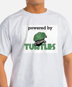 Powered By Turtles Ash Grey T-Shirt