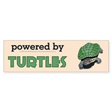 Powered By Turtles Bumper Bumper Sticker