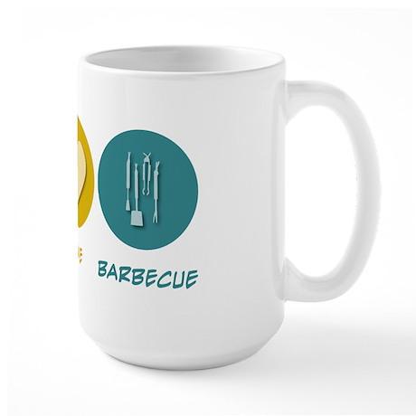 Peace Love Barbecue Large Mug