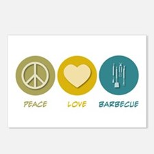 Peace Love Barbecue Postcards (Package of 8)