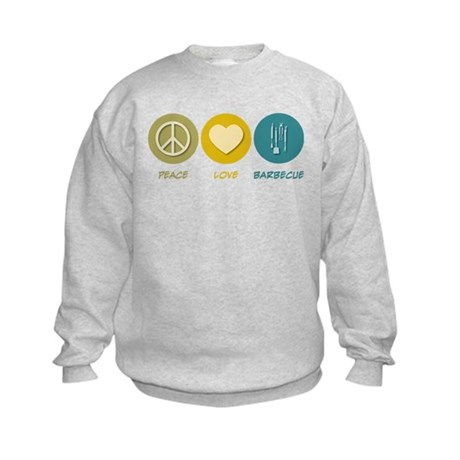 Peace Love Barbecue Kids Sweatshirt