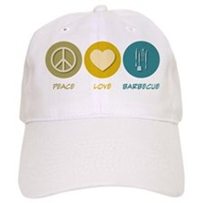 Peace Love Barbecue Baseball Cap