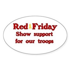 Red Friday Oval Decal