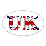 UK Lettering Oval Sticker (10 pk)