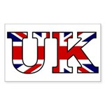 UK Lettering Rectangle Sticker