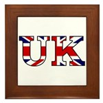 UK Lettering Framed Tile